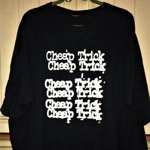 Cheap Trick Graphic Black Short Sleeve Tee Shirt